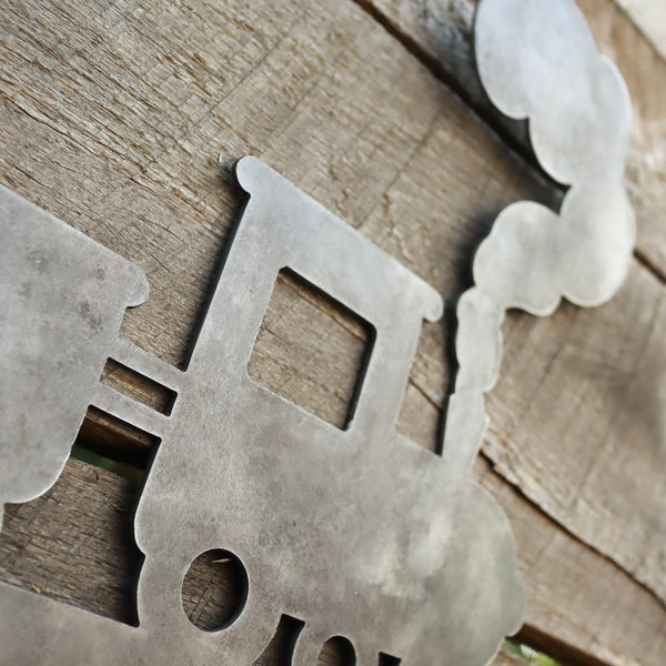 Kids Train Coat Rack - Back to School Personalized Hanger Hooks - Wall Mount Organization Decor