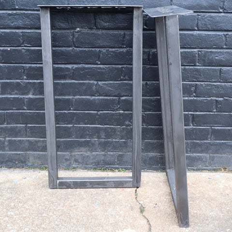 "Original Metal Table Legs - Steel Table Base, DIY, Maker Table, Set of 2 Legs, 2"" Mild Steel Tubing"