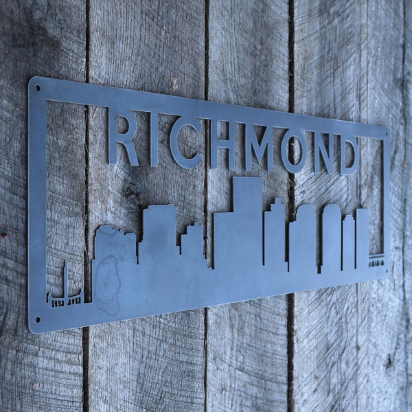 Personalized Metal Richmond Skyline Sign - Richmond, Virginia Wall Art