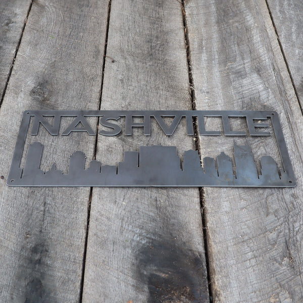 Personalized Metal Nashville Skyline Sign - Nashville, Tennessee Wall Art