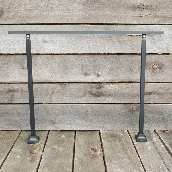Custom Length Adjustable Metal Handrail with Rustic Design - Make A Rail Grab Rail - Farmhouse Stair Decor