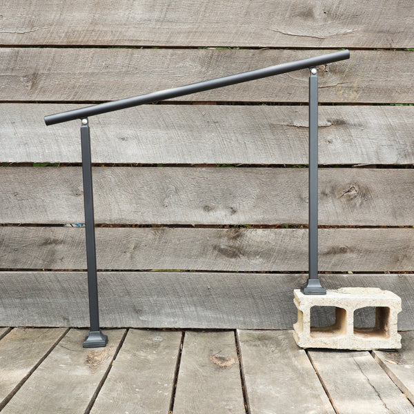 Custom Length Adjustable Metal Handrail with Modern Design - Make A Rail Grab Rail - Minimalist Stair Decor