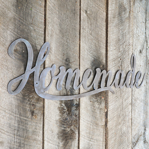 Metal Homemade Sign - Rustic Kitchen Decor - Crafting Wall Art - Farmhouse Home Decor
