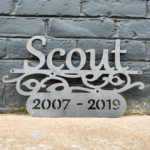 Personalized Pet Memorial Sign - Dog or Cat Loss Plaque