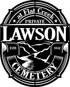 "Custom Listing for Lawson Cemetery (1/4"" plate)"