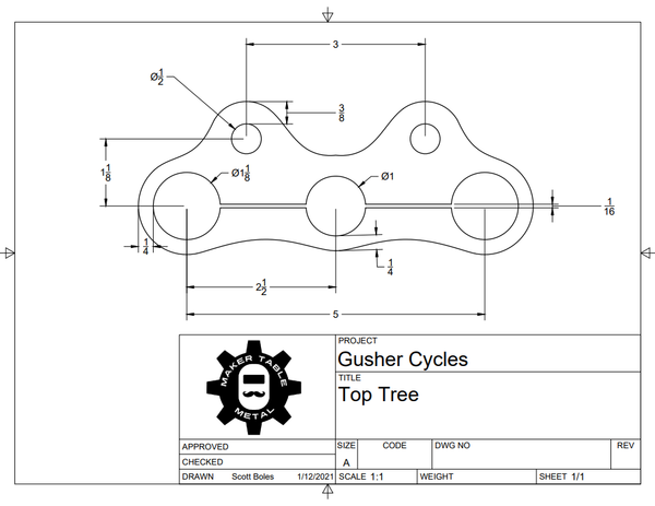 50% Deposit for Gusher Cycles - Laser Cut Parts