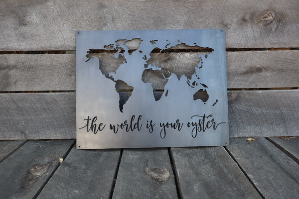 Custom Metal World Sign - Personalized Metal Sign