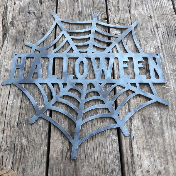 HALLOWEEN Spider Web - Spooky Metal Wall Art