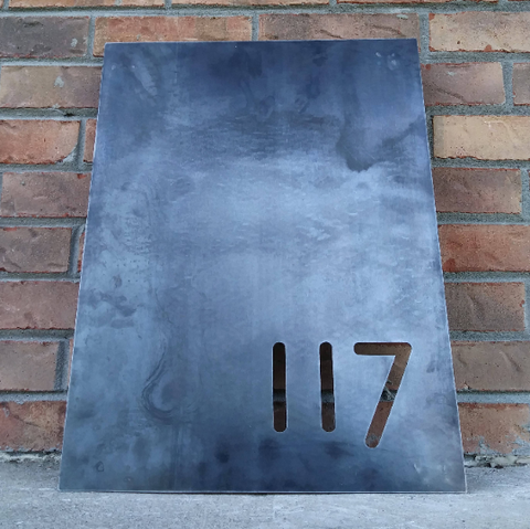 Modern Metal House Number Sign - Minimalist Address Plaque