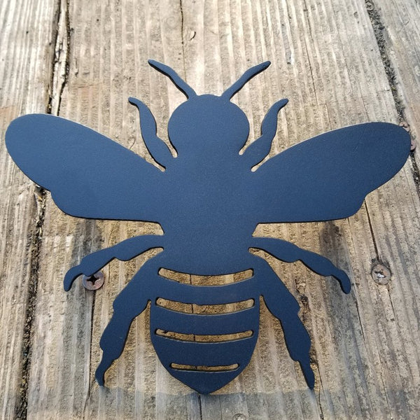 Garden Bumble Bee Metal Floating Sign - Flowers, Spring Honey Bee Yard Decor - Apiarist Decor