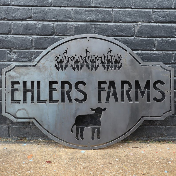 Custom Vintage Metal Farmhouse Sign - Family Name Farm Wall Art