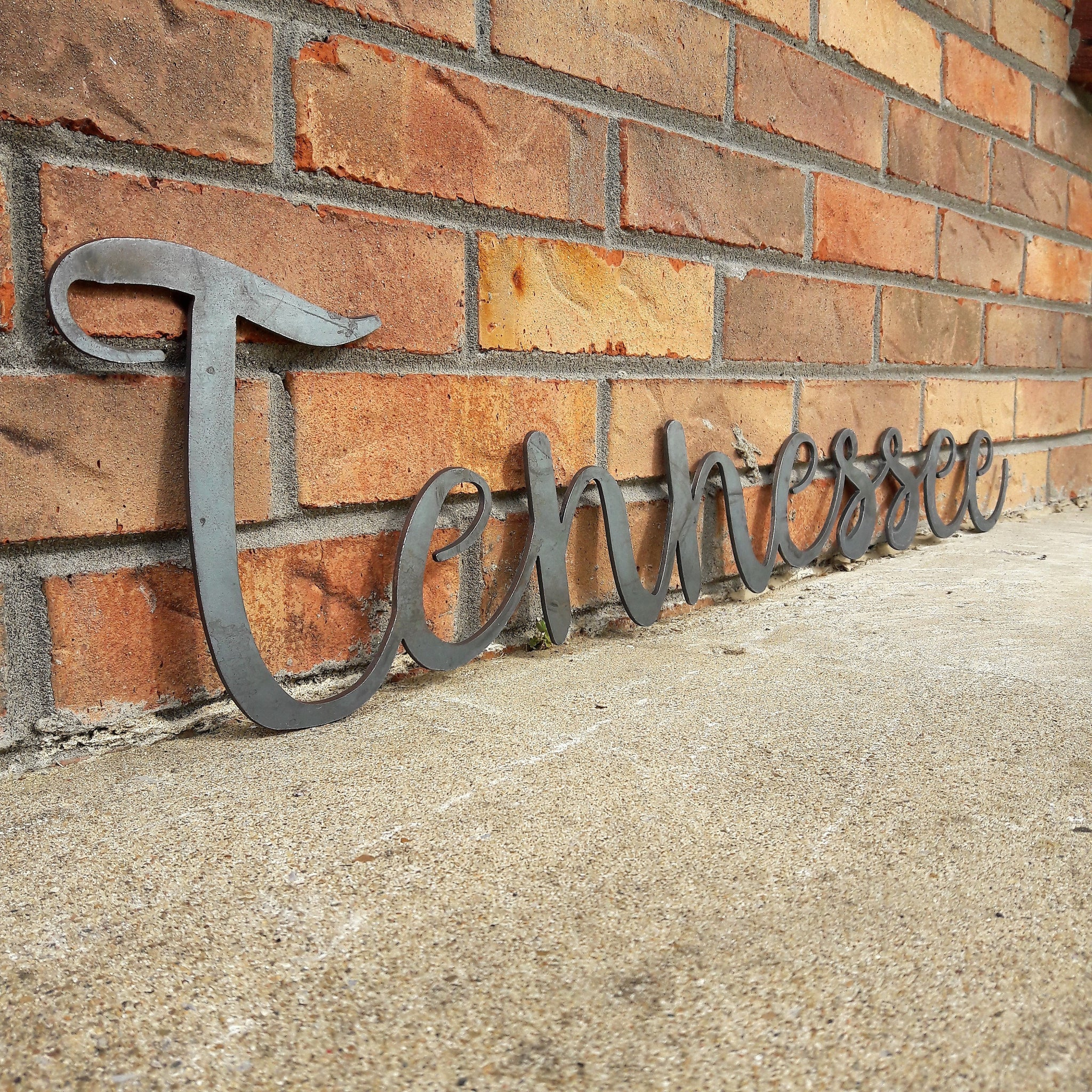 Rustic Tennessee Sign - Cursive Metal