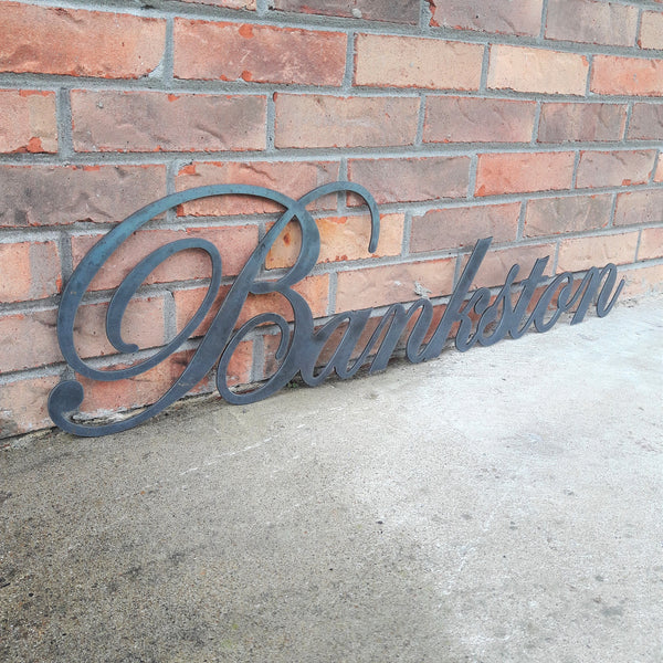 Victorian Cursive Name Sign - Wedding Gift