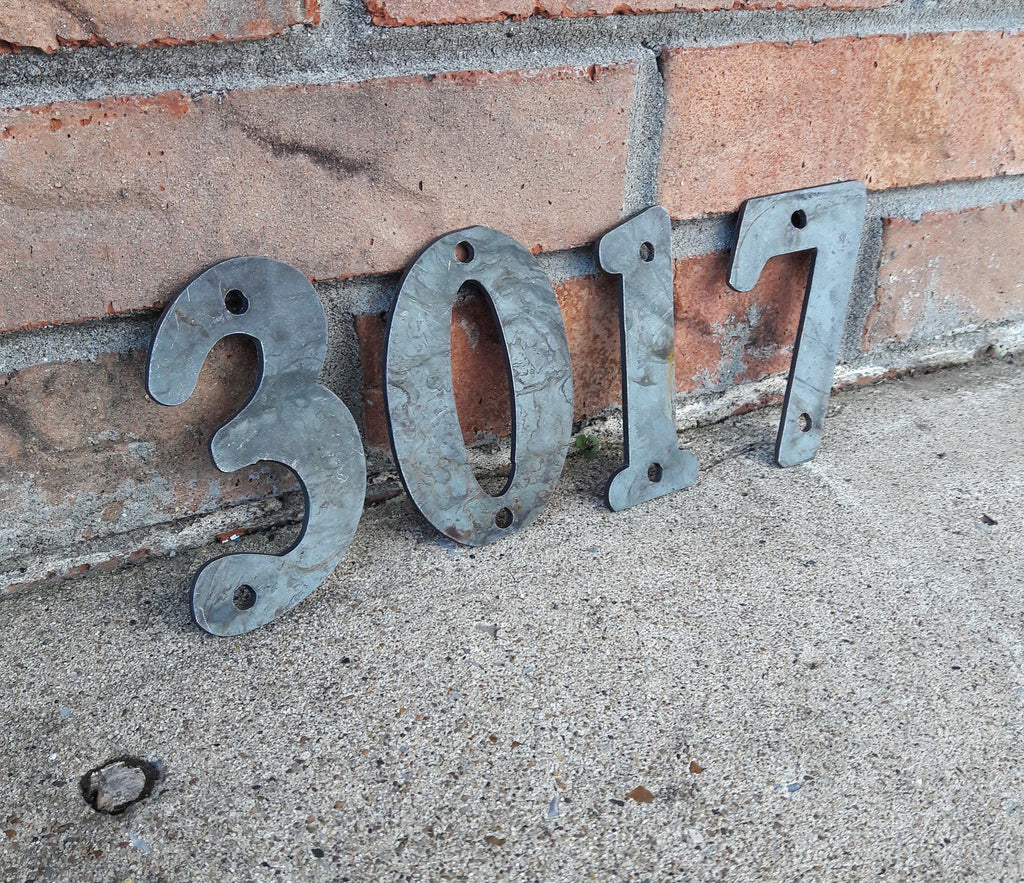 Raw Metal House Number Custom House Number Personalized Maker Table - Cheap metal house numbers