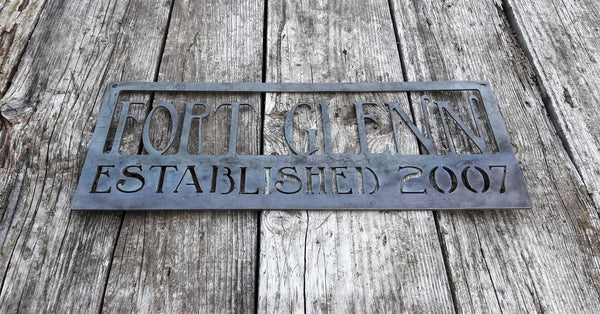 Rustic Home Sign w Established Year - Personalized