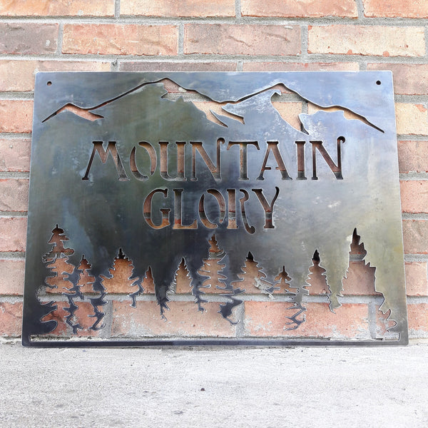 Rustic Mountain Sign - Personalized