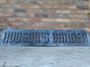 Vintage Metal Sign - Personalized