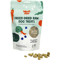 West Paw Freeze-Dried Treats - Duck with Superfood, 2.5-oz