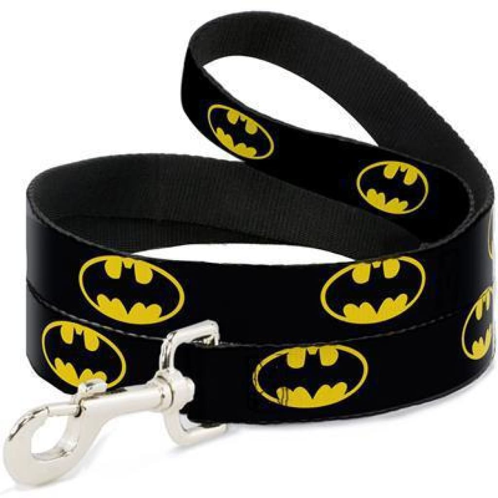 Buckle-Down Batman Dog Leash, 4-ft - Cleaner Tails