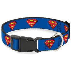 Buckle-Down Superman Shield Dog Collar - Cleaner Tails