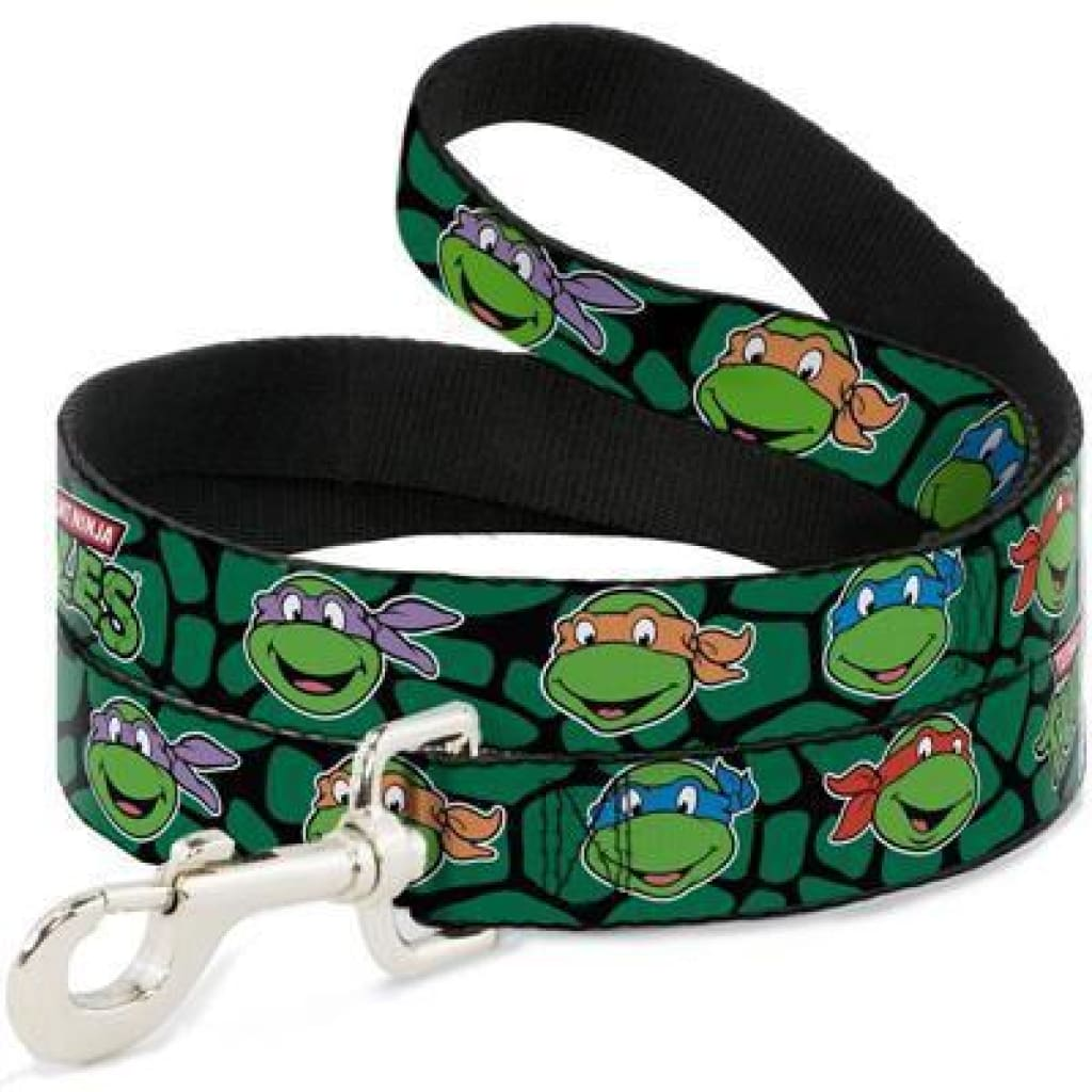 Buckle-Down Teenage Mutant Ninja Turtles Dog Leash, 4-ft - Cleaner Tails