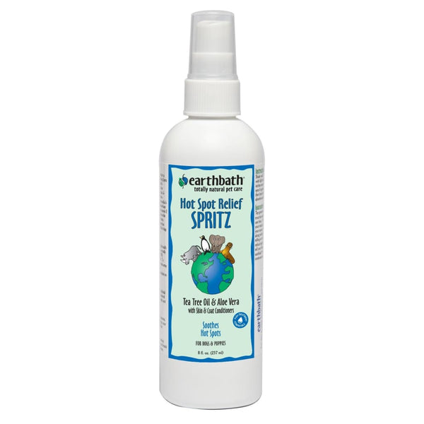 Earthbath Hot Spot Relief Spritz, Tea Tree Oil & Aloe Vera, 8 oz. - Cleaner Tails