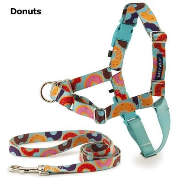 Easy Walk Chic Donuts Dog Harness & Leash - Cleaner Tails