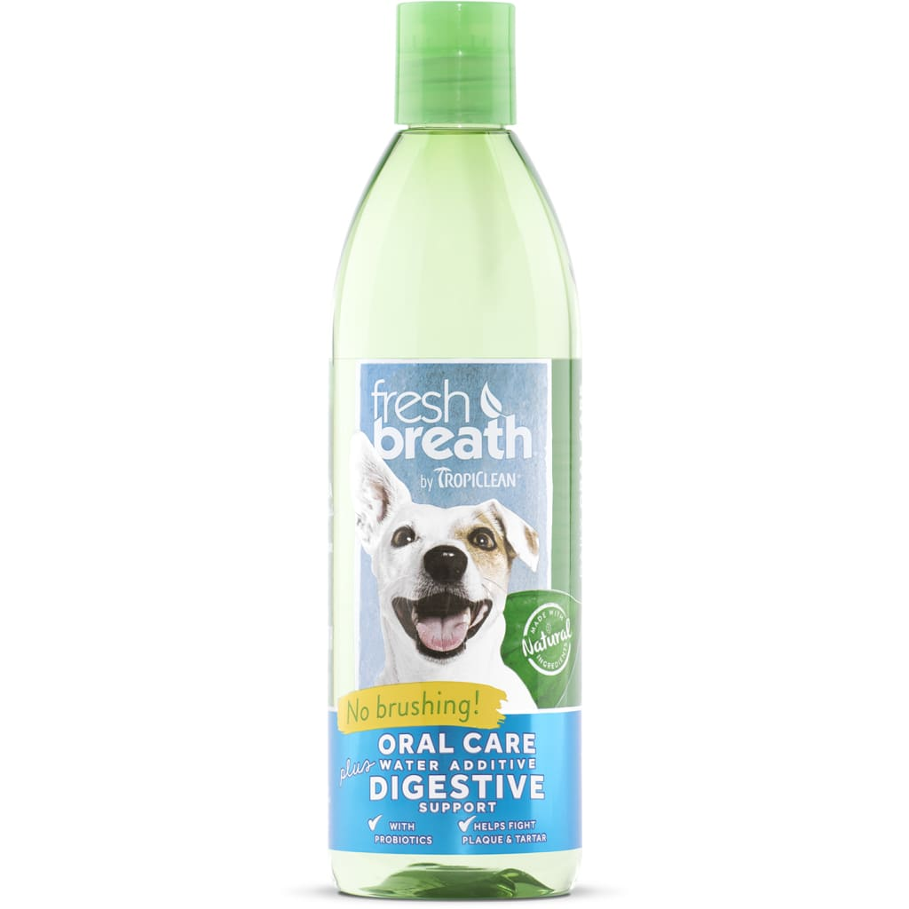 Fresh Breath Dog Water Additive Digestive Support - Cleaner Tails