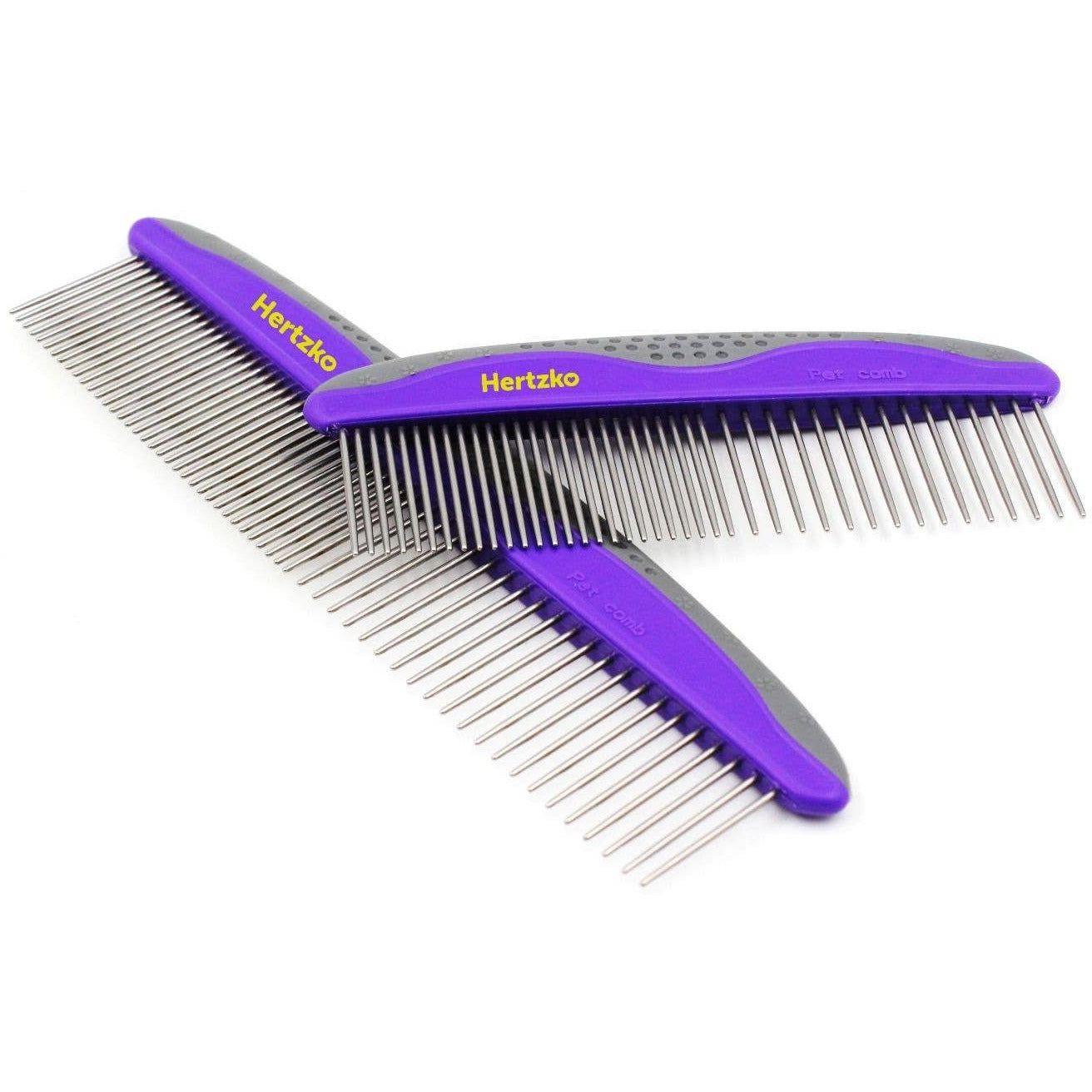 Hertzko Large And Small Grooming Comb - 2 Pack