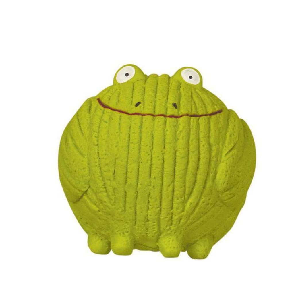 HuggleHounds Ruff-Tex Froggy Dog Toy, Small - Cleaner Tails