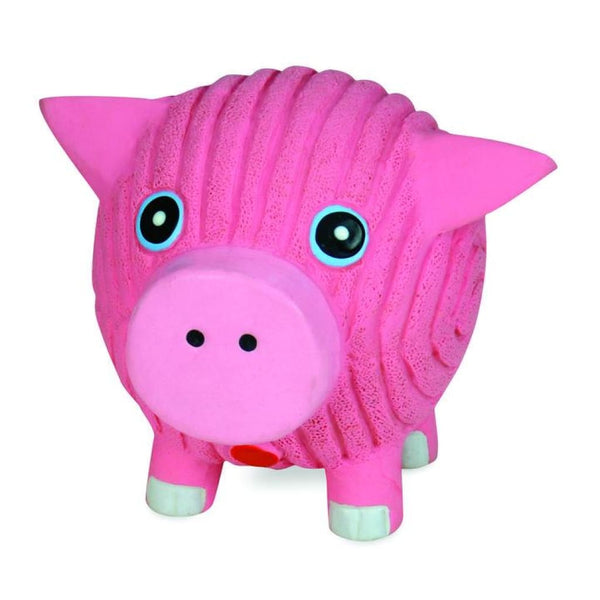 HuggleHounds Ruff-Tex Hamlet the Pig Dog Toy - Cleaner Tails