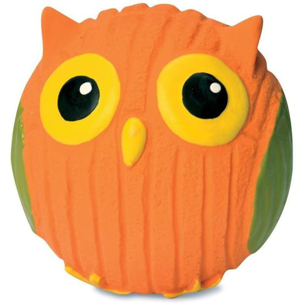 HuggleHounds Ruff-Tex Poppy The Owl Dog Toy - Cleaner Tails