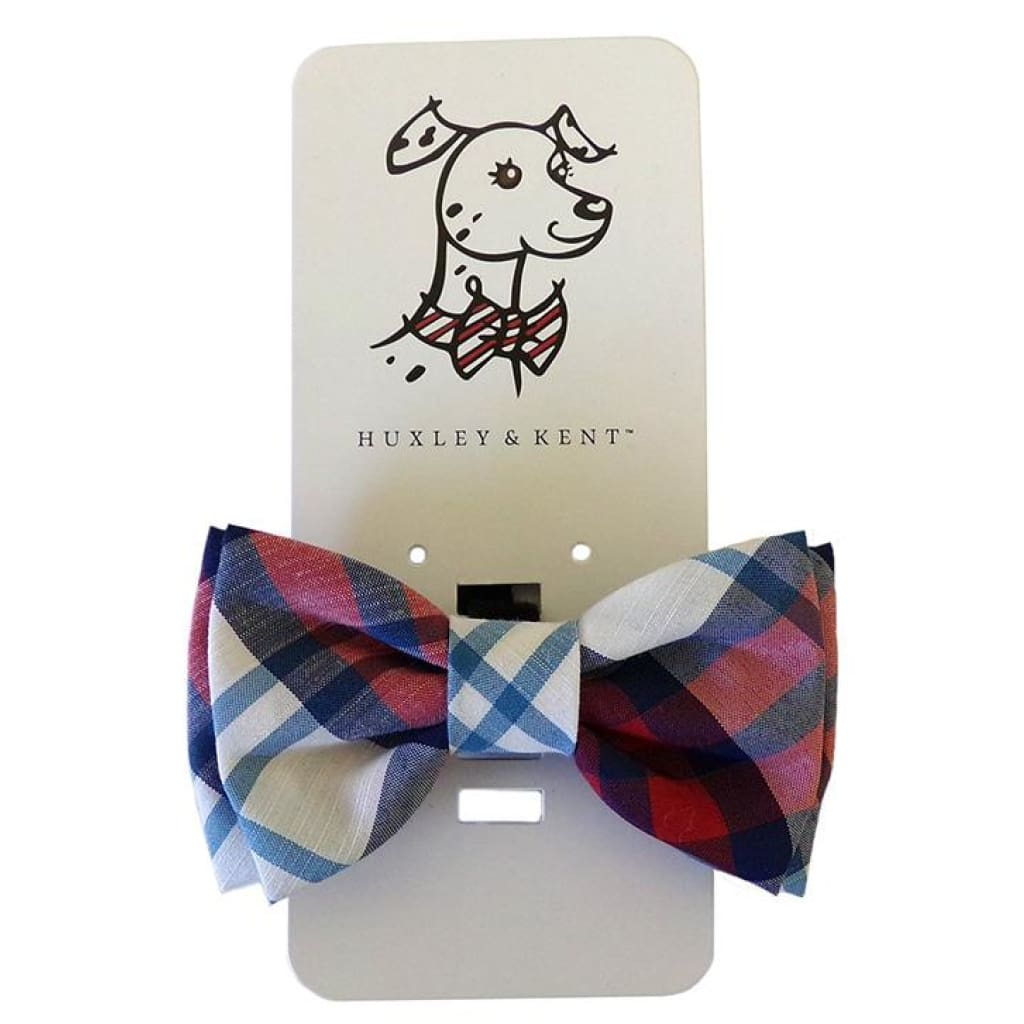 Huxley & Kent Americana Madras Bow Tie - Cleaner Tails