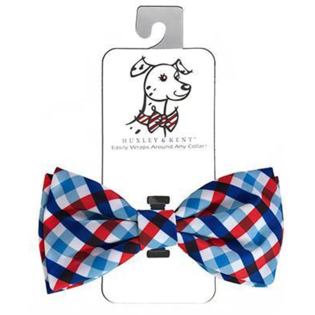 Huxley & Kent Picnic Check Bow Tie - Cleaner Tails