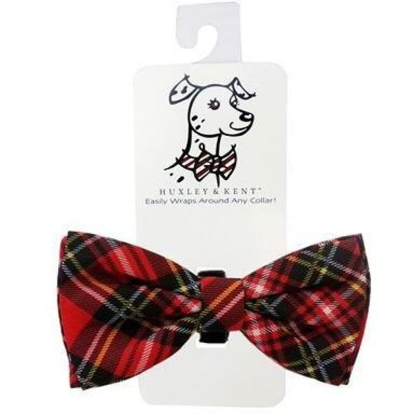 Huxley & Kent Red Plaid Bow Tie - Cleaner Tails