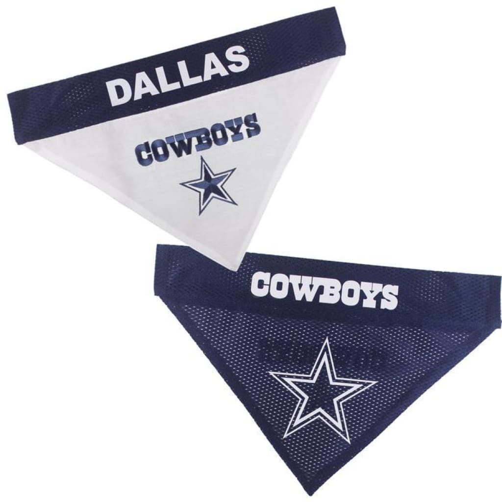 Pets First Dallas Cowboys NFL Reversible Bandana - Cleaner Tails