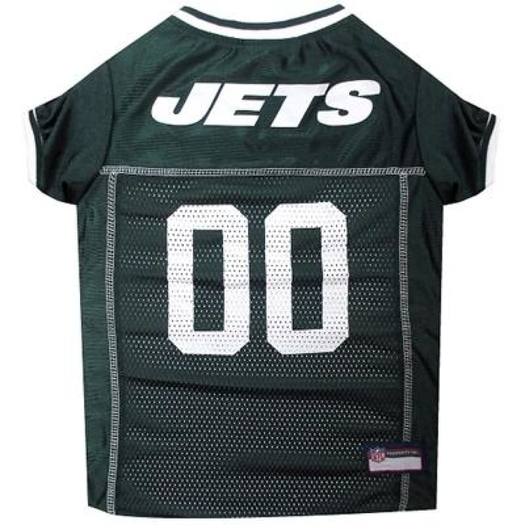 Pets First New York Jets NFL Mesh Jersey For Dogs - Cleaner Tails
