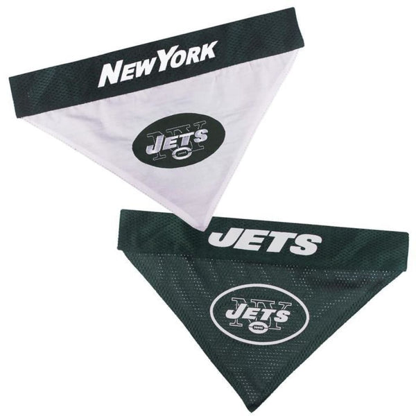 Pets First New York Jets NFL Reversible Bandana - Cleaner Tails
