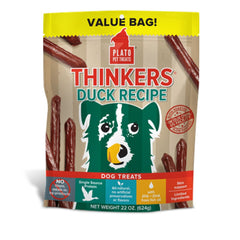 Plato Thinkers Natural Duck Recipe Dog Treats - Cleaner Tails