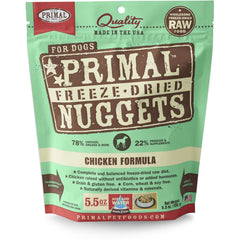 Primal Chicken Formula Nuggets Grain-Free Raw Freeze-Dried Dog Food - Cleaner Tails