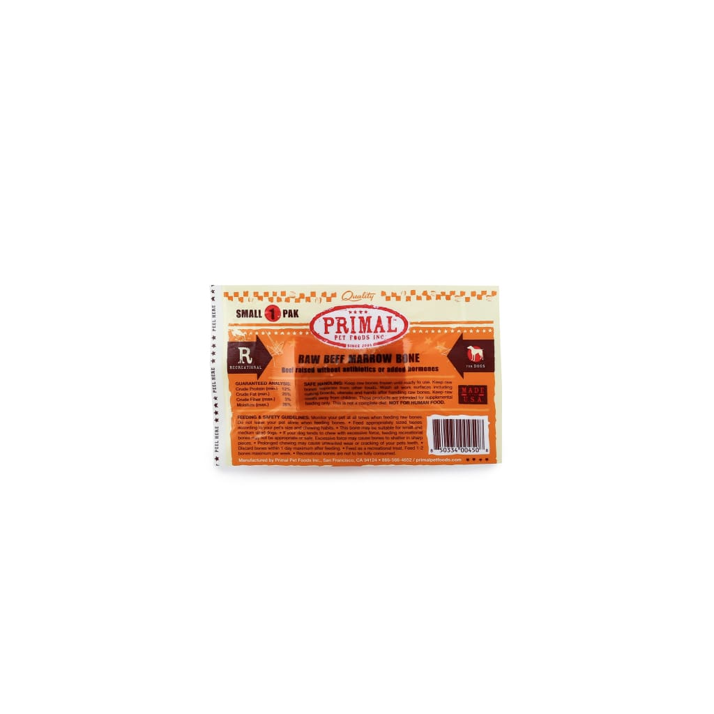 Primal Pet Foods Frozen Raw Beef Marrow Bone - Cleaner Tails