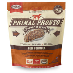 Primal Pet Foods Pronto Raw Frozen Canine Beef Formula - Cleaner Tails
