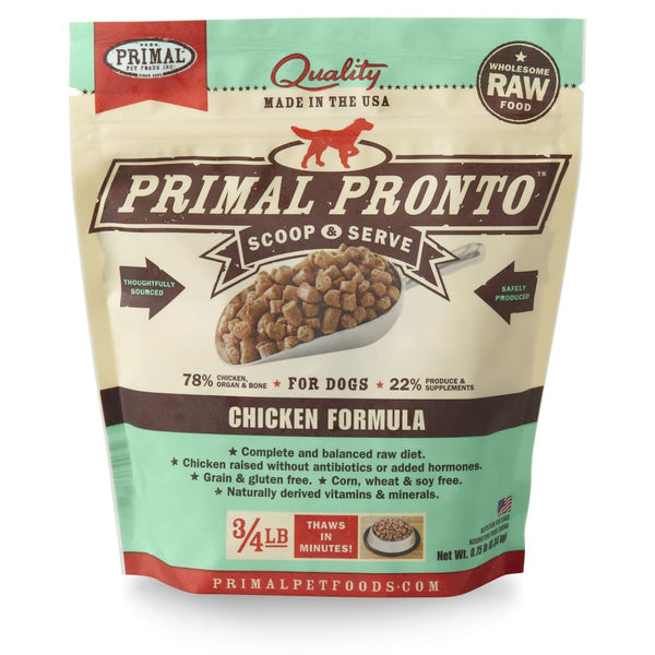 Primal Pet Foods Pronto Raw Frozen Canine Chicken Formula - Cleaner Tails