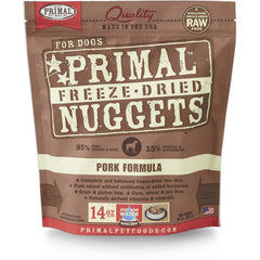 Primal Pork Formula Nuggets Grain-Free Raw Freeze-Dried Dog Food - Cleaner Tails