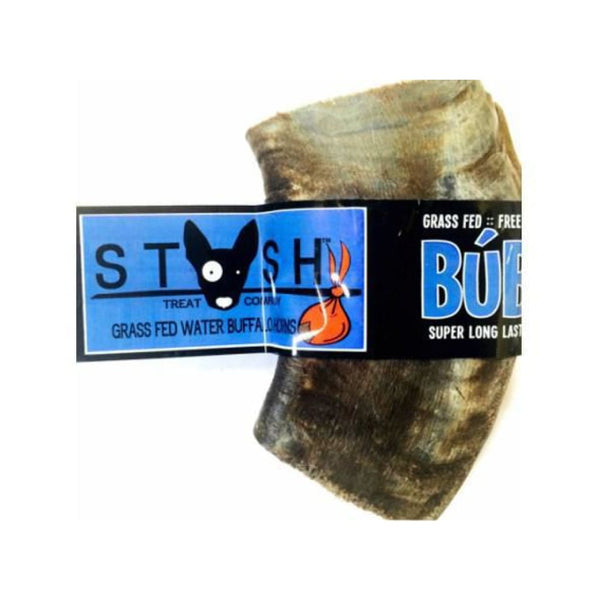 Stash Treat Company Buba Chew Grass Fed Natural Water Buffalo Horn - Cleaner Tails