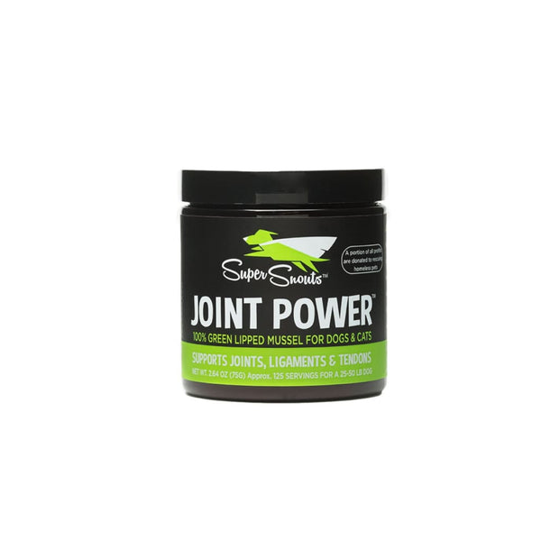 Super Snouts Joint Power Green Lipped Mussel Dog & Cat Supplement 2.64-oz jar - joint powder