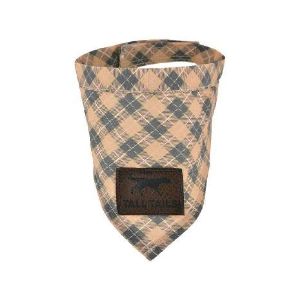 Tall Tails Tan Plaid Bandana For Dogs - Cleaner Tails