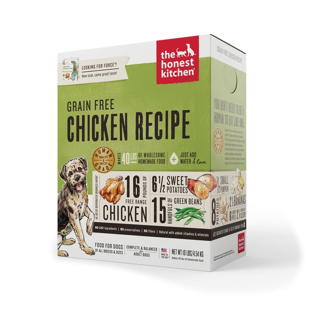 The Honest Kitchen Grain-Free Chicken Recipe Dehydrated Dog Food - Cleaner Tails