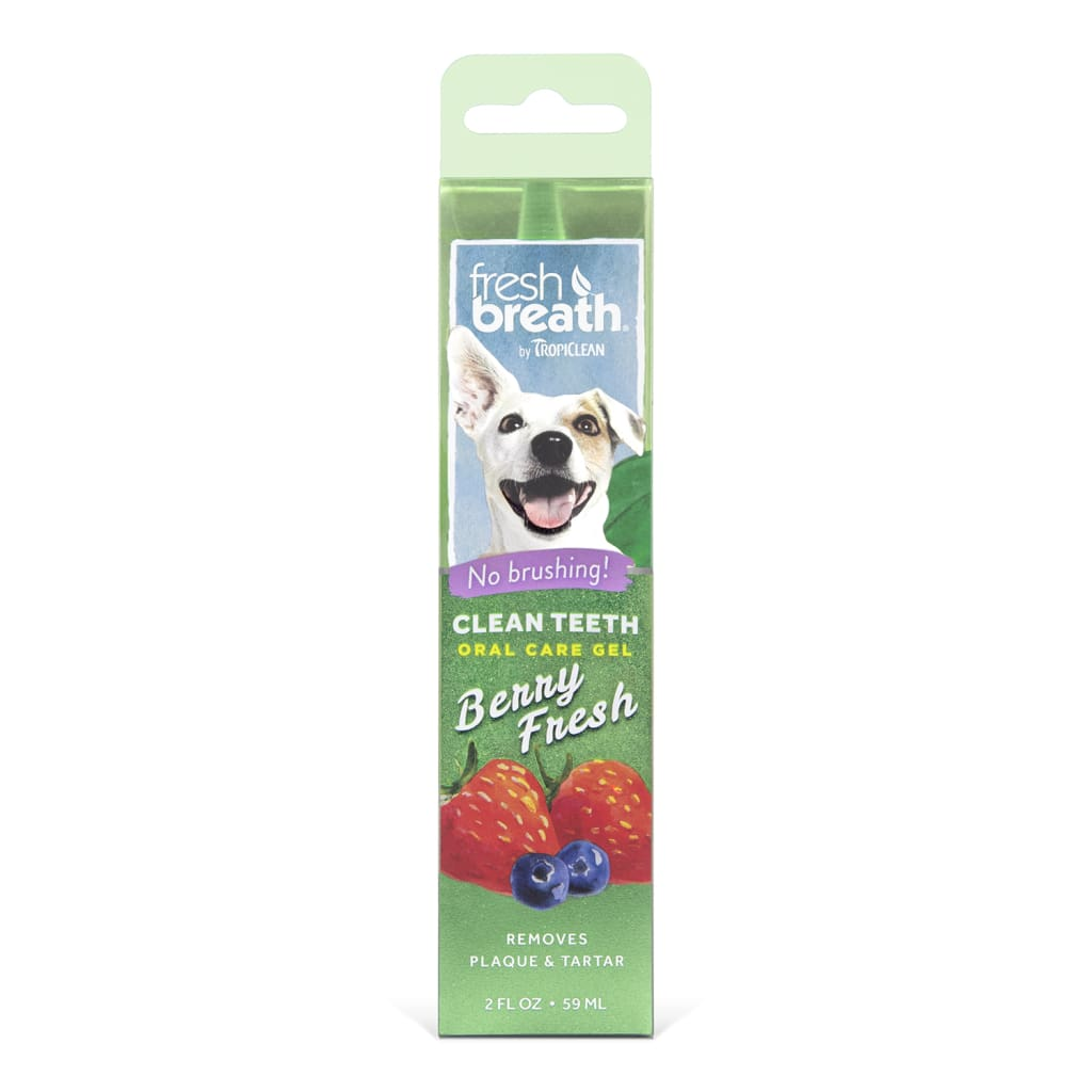 TropiClean Fresh Breath Clean Teeth Berry Fresh Oral Care Gel, 2-oz - Cleaner Tails