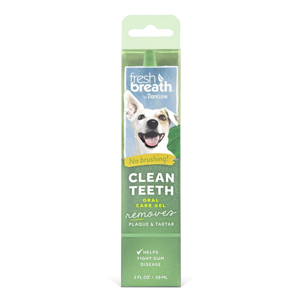 TropiClean Fresh Breath Clean Teeth Dog Oral Care Gel, 2-oz - Cleaner Tails